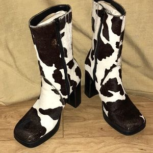 MIA Two-Tone Cowhide Boots